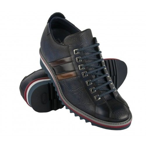 Ledersneaker mit 7 cm...