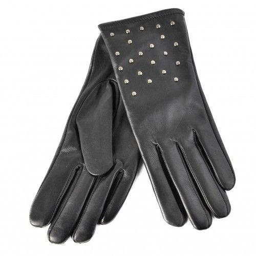 Nietenbesetzte Lederhandschuhe für Damen Zerimar - 1
