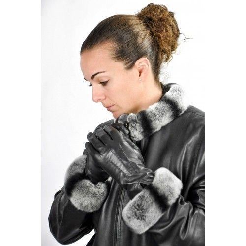 Klassische schwarze Lederhandschuhe für Frauen Zerimar - 1