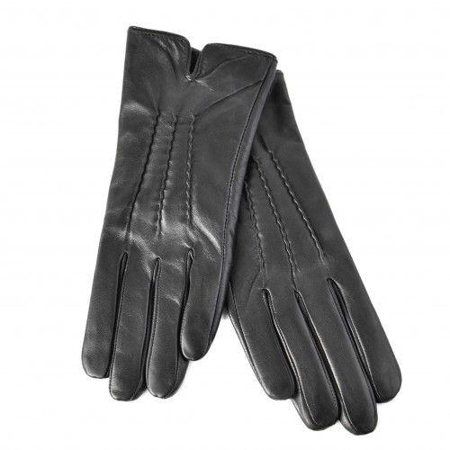 Klassische schwarze Lederhandschuhe für Frauen Zerimar - 2