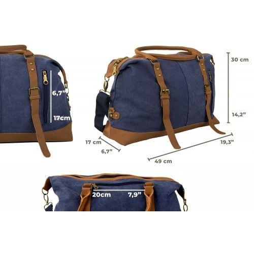 Reisetasche aus Stoff mit...