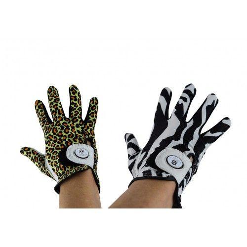 Packung Golfhandschuhe aus Leder mit Animal-Print für Rechtshänder Airel - 1