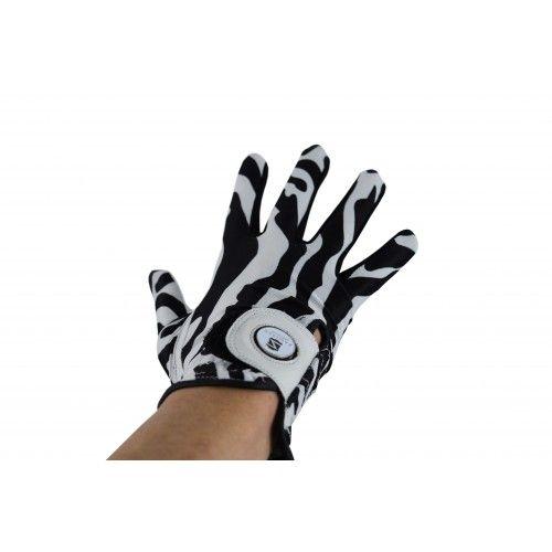 Packung Golfhandschuhe aus Leder mit Animal-Print für Rechtshänder Airel - 2