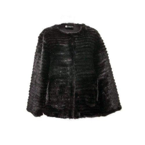Vison Mantel für Frauen schwarz Zerimar - 1