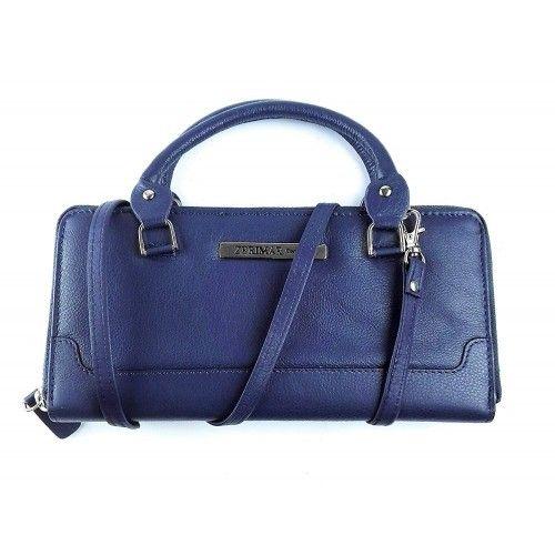 Damenbrieftasche aus Naturleder mit Reißverschluss 22 x 11 cm Zerimar - 1
