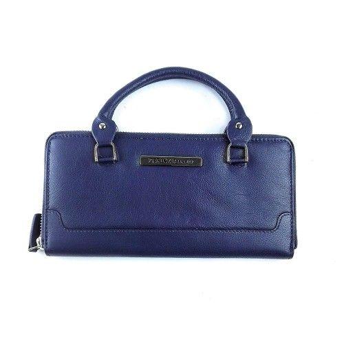 Damenbrieftasche aus Naturleder mit Reißverschluss 22 x 11 cm Zerimar - 2