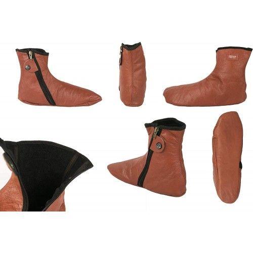 Hausschuhe Winter HausSchuhe Pantoffeln Leder Warme Zerimar - 2