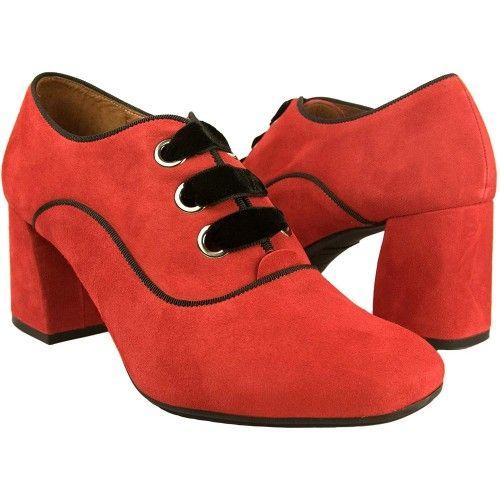 Damen Schuhe Leder Flach...