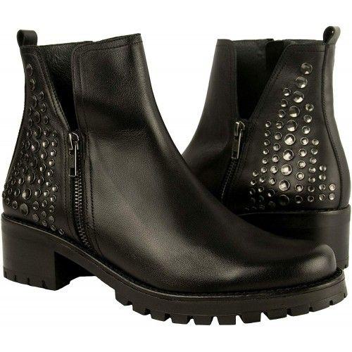Damen Flach Schuhe Leder...