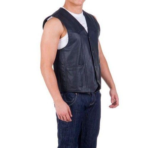 Lederweste mit Taschen und Innenfutter Zerimar - 2