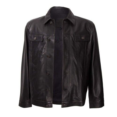 Lederjacke für Herren mit schwarzem Knopfverschluss vorne Zerimar - 2