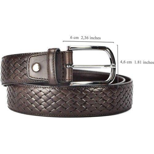 Ledergürtel aus echtem Leder Herren Gürtel aus weiches leder 4 cm-1 Zerimar - 2