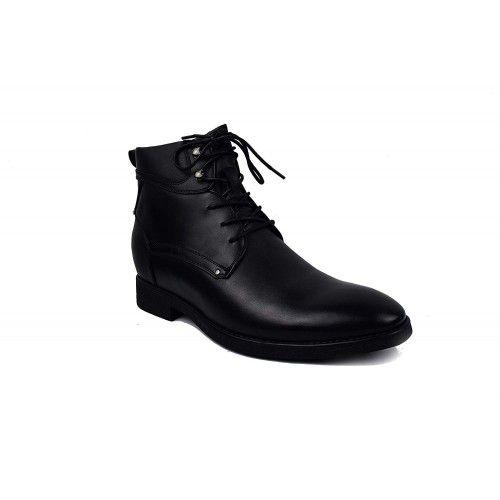 Stiefel mit Innenhöhen um 7 cm erhöht Farbe Schwarz Zerimar - 2