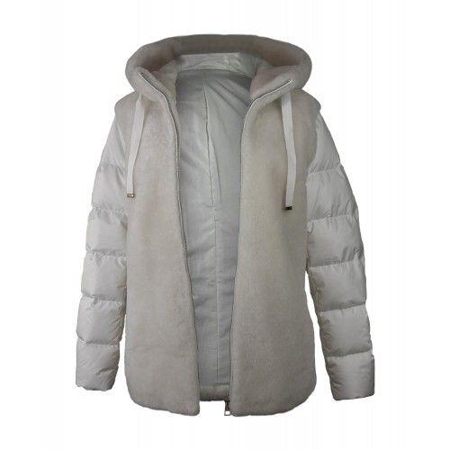 Weißer Mantel mit Kapuze Zerimar - 1