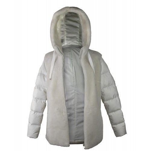 Weißer Mantel mit Kapuze Zerimar - 2