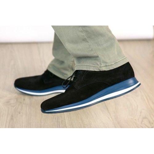 Ledersportschuhe mit Komfortsohle und Schnürsenkelverschluss Zerimar - 2