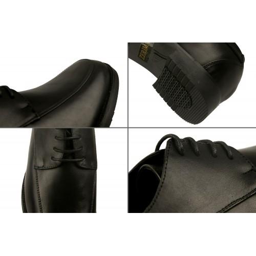 Schuhe mit inneren Erhöhungen, die Höhe 7 cm 38 schwarz erhöhen Zerimar - 2