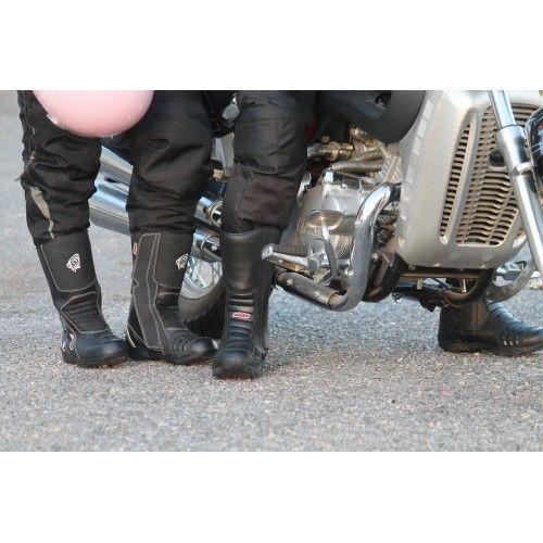 Motorrad Lederstiefel mit...