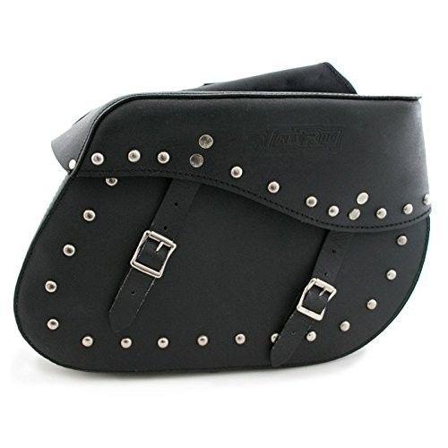 Doppelte Satteltaschen für Motorräder aus hartem Leder mit sicherem Verschluss Farbe schwarz Kenrod - 2