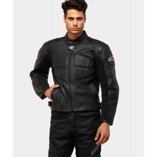 Leder Motorradjacke mit Schutz