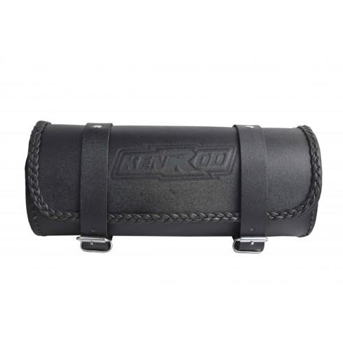 Glatte Lederwerkzeugtasche mit geflochtener Kante für Motorräder Kenrod - 2
