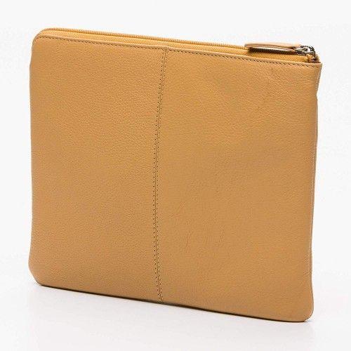 Tablet-Tasche und Dokumententasche aus Leder mit Reißverschluss 23x28 cm Zerimar - 2