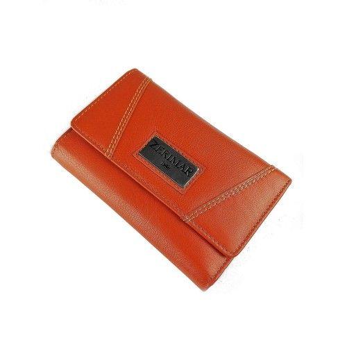 Orange Leder Geldbörse 15x10 cm Zerimar - 1