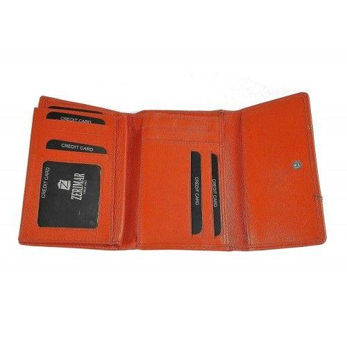 Orange Leder Geldbörse 15x10 cm Zerimar - 2