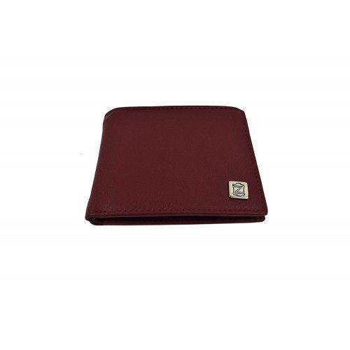 Lederbrieftasche für Herren mit Geldbörse in der Farbe Burgund 8,8x8,7 cm Zerimar - 1