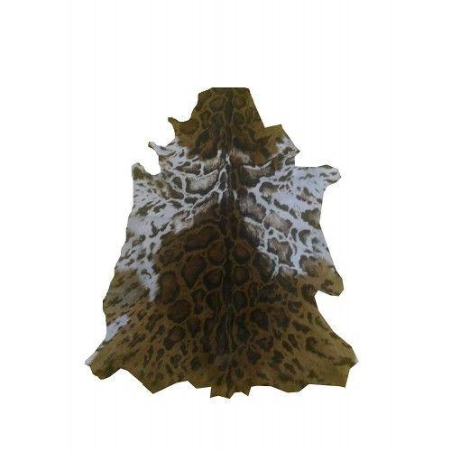 Natürlicher Ziegenlederteppich 100x75 cm Nachahmung Ocelot Zerimar - 1