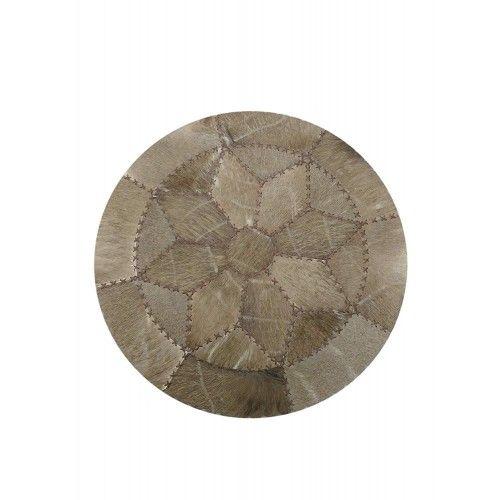 Teppich aus Gnus und Nyala afrikanischen Durchmesser 73 cm Zerimar - 1