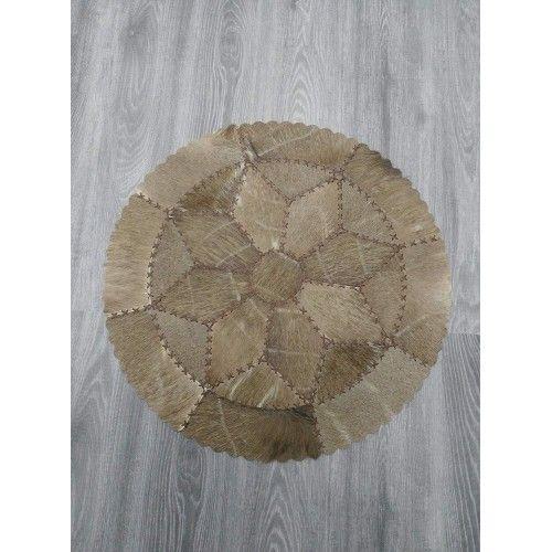 Teppich aus Gnus und Nyala afrikanischen Durchmesser 73 cm Zerimar - 2