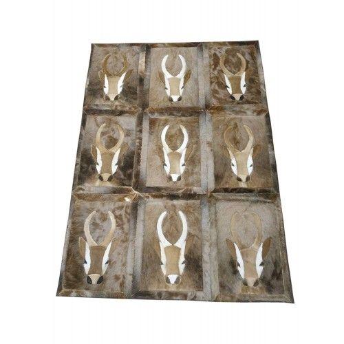 Naturgazelle-Lederteppich Springbock 160x116 cm Zerimar - 1