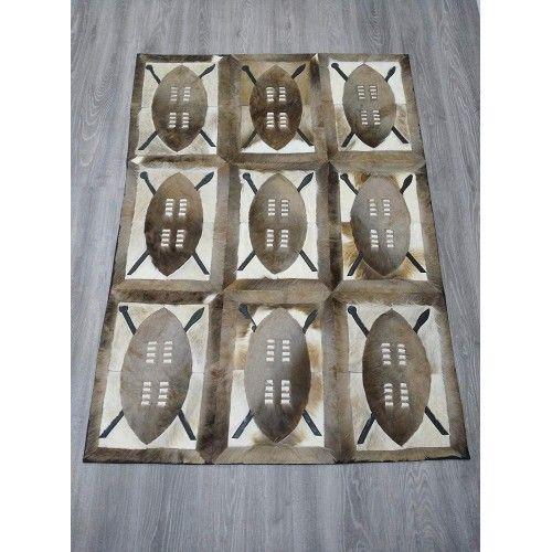 Naturgazelle-Lederteppich Springbock 164x117 cm Zerimar - 2