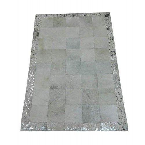 Patchwork Teppich Rindsleder 180x120 cm Zerimar - 1
