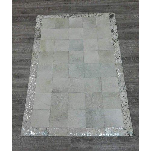 Patchwork Teppich Rindsleder 180x120 cm Zerimar - 2
