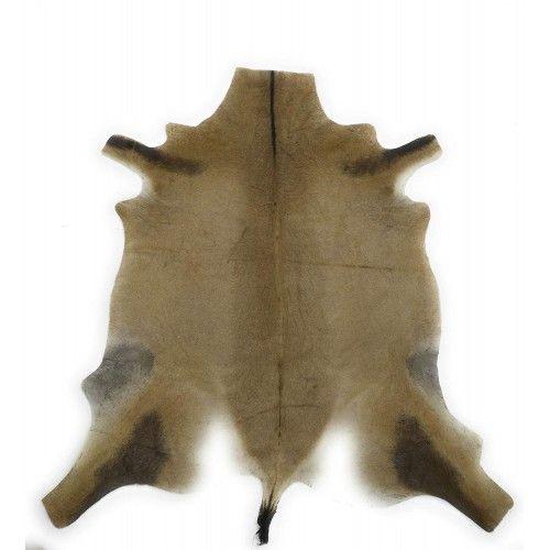 Natürlicher afrikanischer Antilopenlederteppich 140x130 cm Zerimar - 1