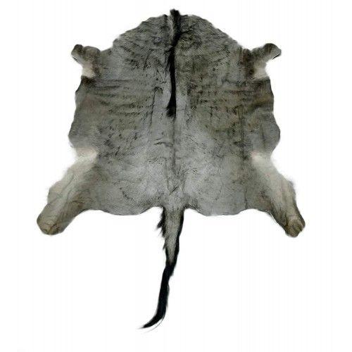 Natürlicher afrikanischer Gnu Teppich 145x145 cm Zerimar - 1