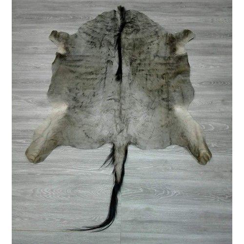 Natürlicher afrikanischer Gnu Teppich 145x145 cm Zerimar - 2