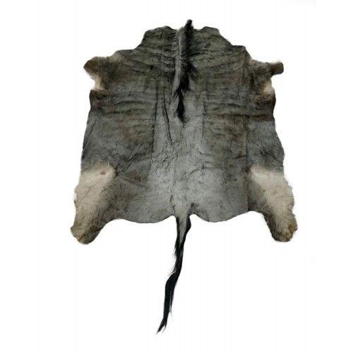 Natürlicher afrikanischer Gnu Teppich 140x130 cm Zerimar - 1