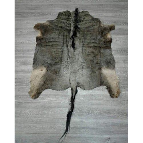 Natürlicher afrikanischer Gnu Teppich 140x130 cm Zerimar - 2