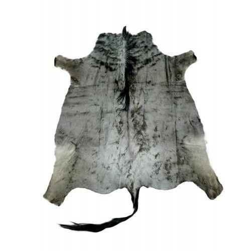 Natürlicher afrikanischer Gnu Teppich 150x135 cm Zerimar - 1
