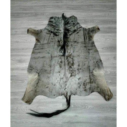 Natürlicher afrikanischer Gnu Teppich 150x135 cm Zerimar - 2
