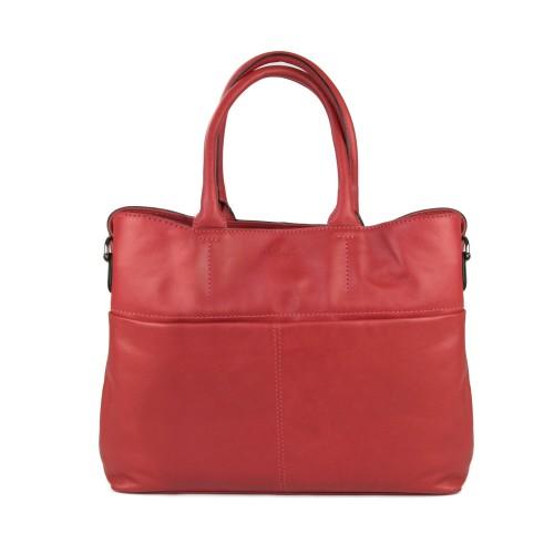 Naturledertasche mit...