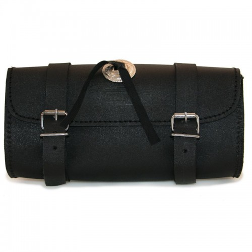 Schwarze starre Lederwerkzeugtasche Kenrod - 1