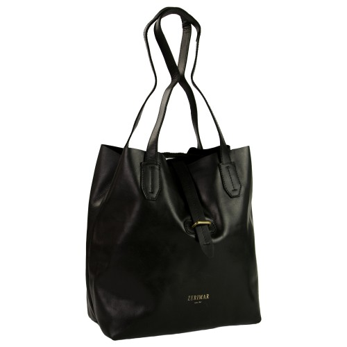 Einkaufstasche aus Leder mit Kreuzverschluss Zerimar - 6