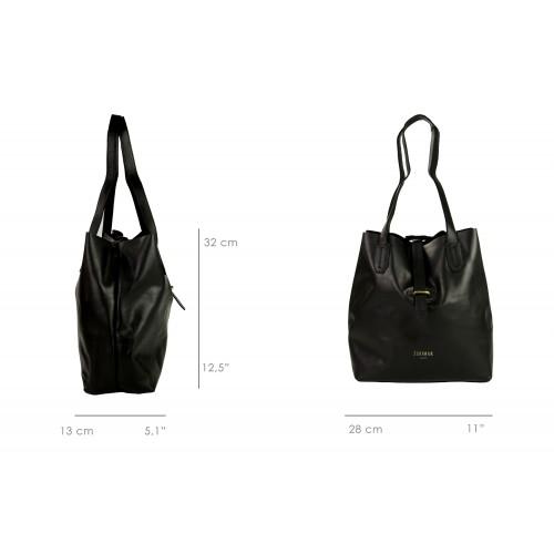 Einkaufstasche aus Leder mit Kreuzverschluss Zerimar - 7