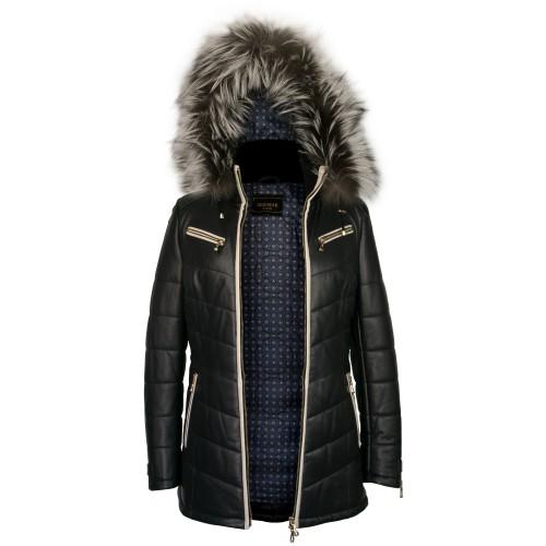 Mantel mit Fuchspelzhaube...