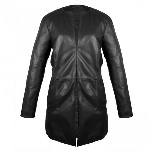 Mantel Leder Damen Jacke...