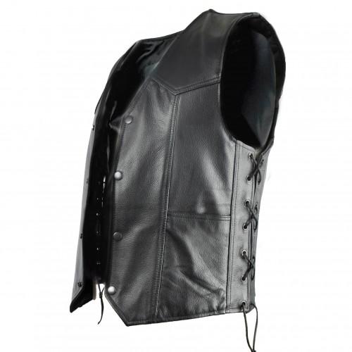 Lederweste mit Taschen und seitlichen Schnürsenkeln mit Innenfutter Zerimar - 2